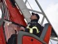 Kladenští hasiči zachránili téměř dvoumetrového leguána Oscara (Foto: HZS Středočeského kraje)
