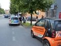V Kladně havarovaly dva osobáky, v jednom z nich cestovalo i batole (Foto: KL)