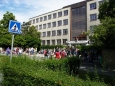 Studenty slánského gymnázia překvapil v pondělí ráno požár v chemické laboratoři (Foto: KL)