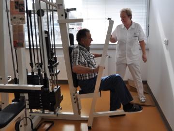 Oddělení rehabilitace kladenské nemocnice už sídlí v novém pavilonu M. Foto: KL/Zuzana Vlková