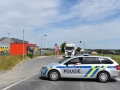 U Kladna havaroval motorkář, nedal mu přednost kamion (Foto: KL)