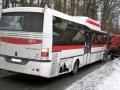 V Kladně nabourala poštovní dodávka do autobusu (Foto: Jiří Kimla - Multiprint s. r. o)