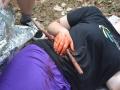 Žáci kladenské zdravotnické školy zachraňovali zraněné (Foto: KL)